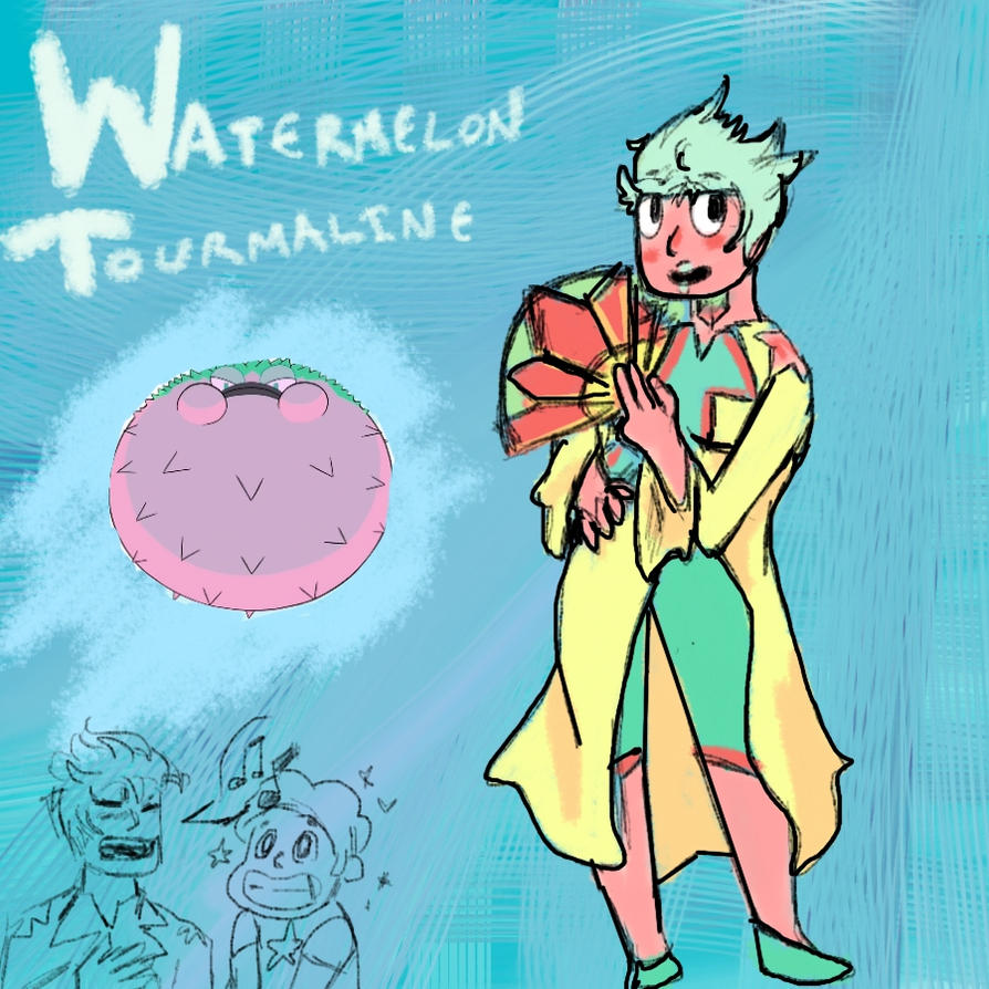 Gem Monster Watermelon Tourmaline by 98zelda