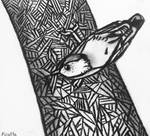 Abstract Nuthatch by Ficatta
