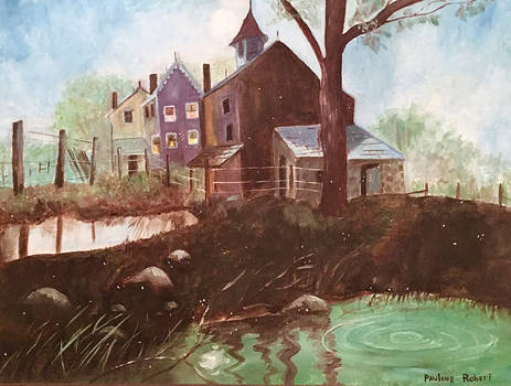 Southern Town (Grandma Paulene's Painting)