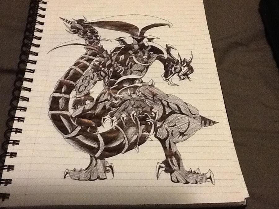 Dark armed dragon sketch by cv8812