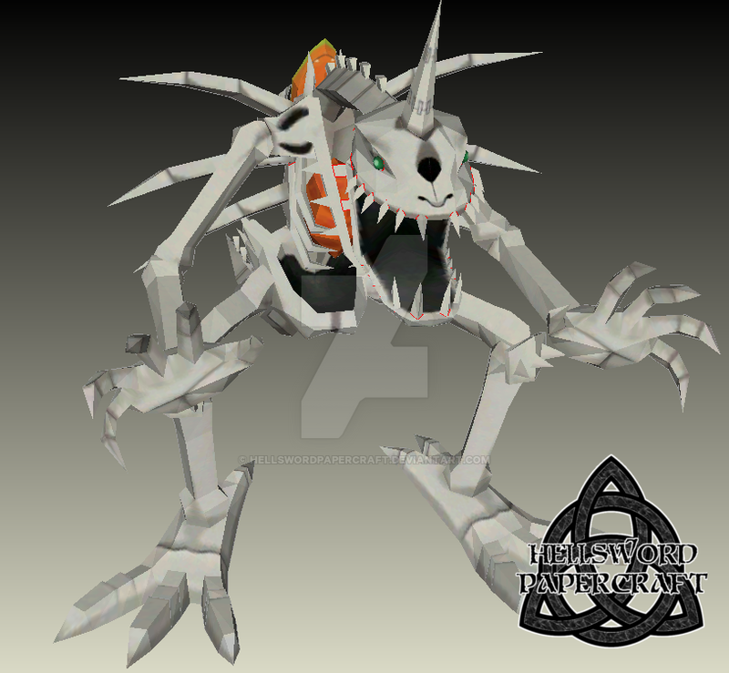 SkullGreymon Papercraft by HellswordPapercraft