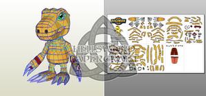 Digimon Agumon (Savers/Data Squad) Papercraft