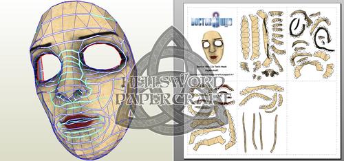 Doctor Who Liz Ten's Mask Papercraft by HellswordPapercraft