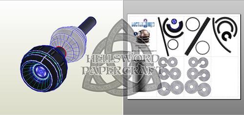 Doctor Who Dalek Eye Papercraft by HellswordPapercraft