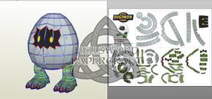 Digimon Digitamamon Papercraft
