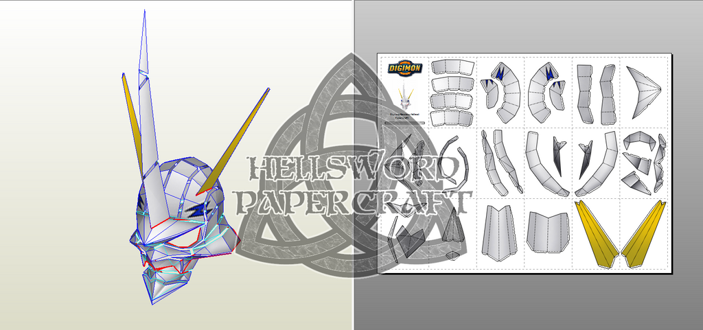 Digimon Helmets Royal Knight Edition: Omnimon by HellswordPapercraft