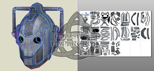 Doctor Who Cyberman Head Papercraft