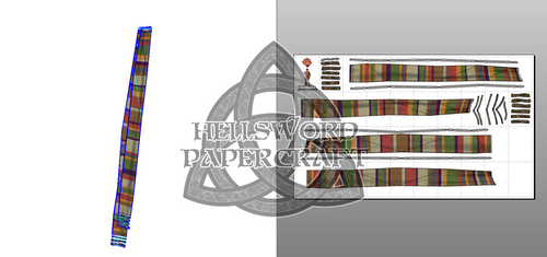 Doctor Who 4th Doctor's Scarf Papercraft