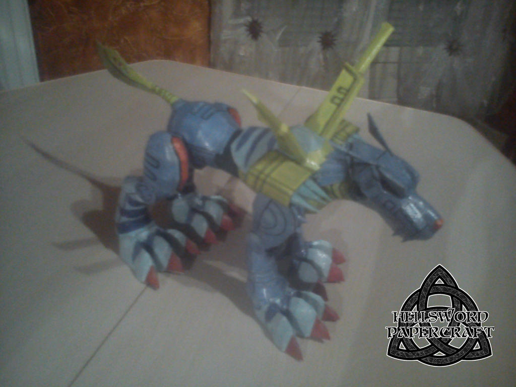 Digimon MetalGarurumon Papercraft Complete Right by HellswordPapercraft