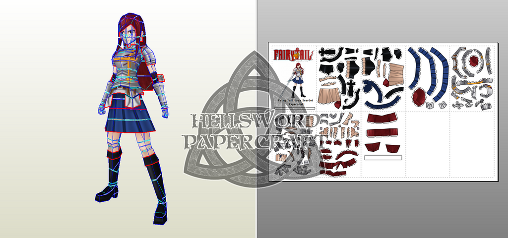 Fairy Tail Erza Scarlet Papercraft Preview by HellswordPapercraft