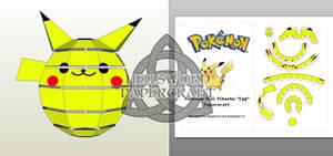 Pokemon Mini Pikachu Egg/Ball/Chibi Papercraft 03