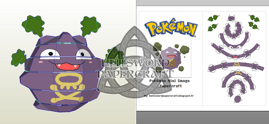 Pokemon Mini Koffing Papercraft Preview by HellswordPapercraft