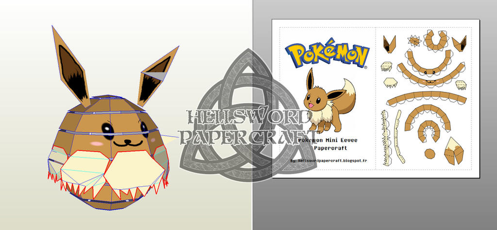 Pokemon Mini Eevee Papercraft Preview by HellswordPapercraft on ...