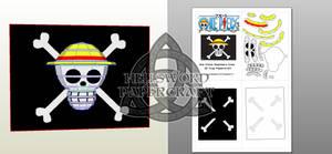 One Piece Mugiwara Crew 3D flag Papercraft Preview
