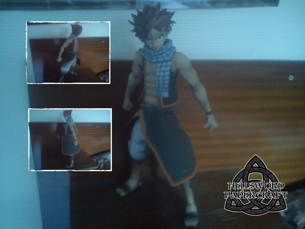 Fairy Tail Natsu Papercraft Built by HellswordPapercraft
