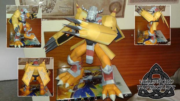 Digimon WarGreymon Papercraft COMPLETE