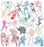 21 Avenger Sketches