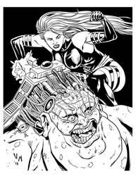 Psylocke vs. Mojo by quibly