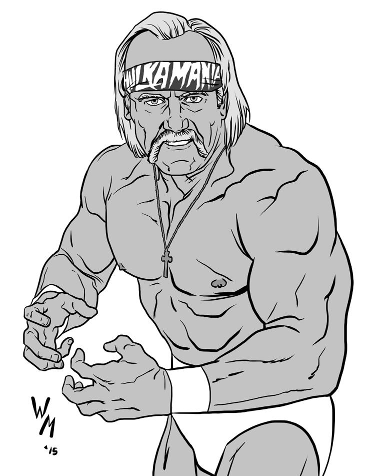 Hulk Hogan Coloring Pages Free