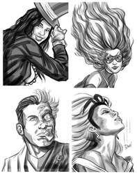 Comic Book Portrait Sketches by quibly