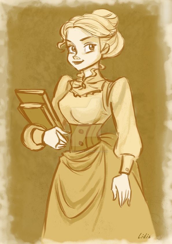 An old fashion Lady by buttercupLF