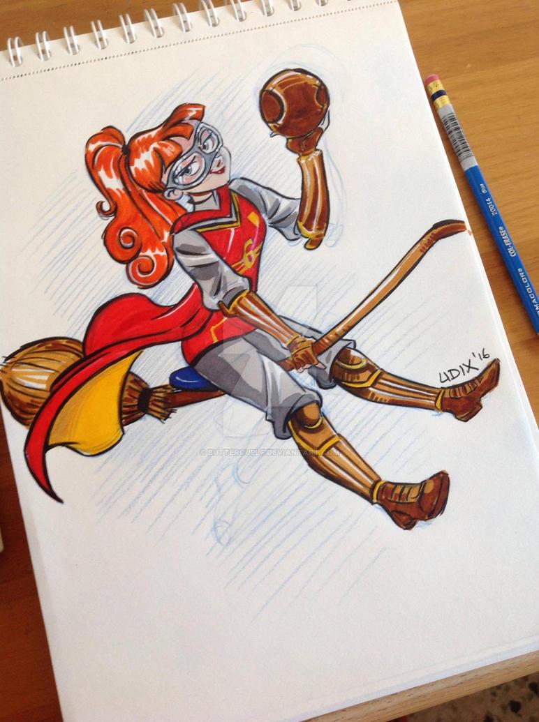 Ginny Weasley Sketch by buttercupLF