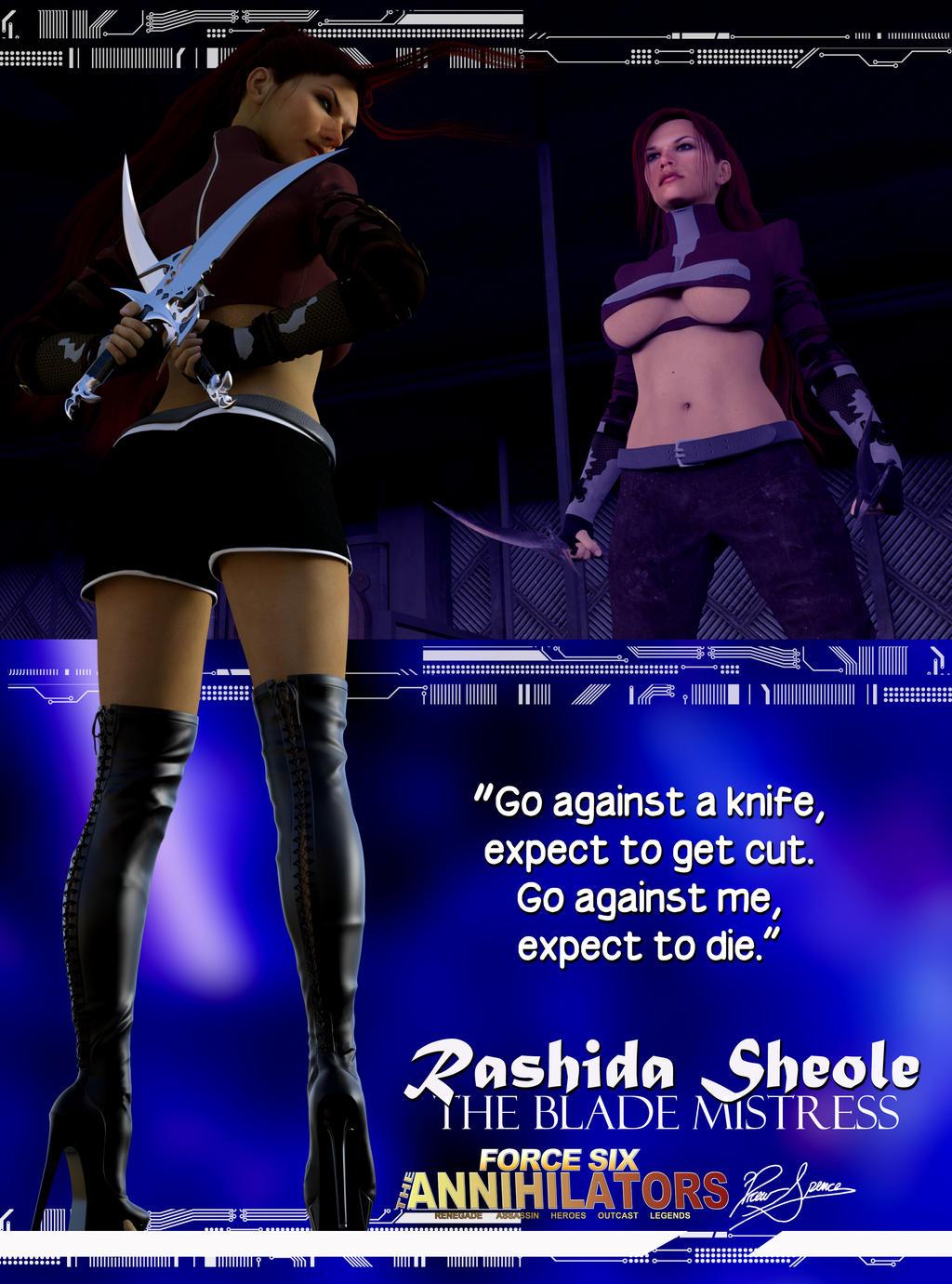 Force Six The Annihilators Rashida Sheole The Blad by G-Mantis