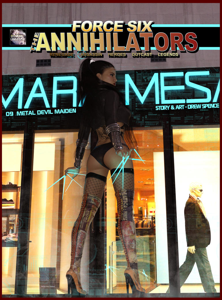 Force Six, The Annihilators episode 09 cover by G-Mantis
