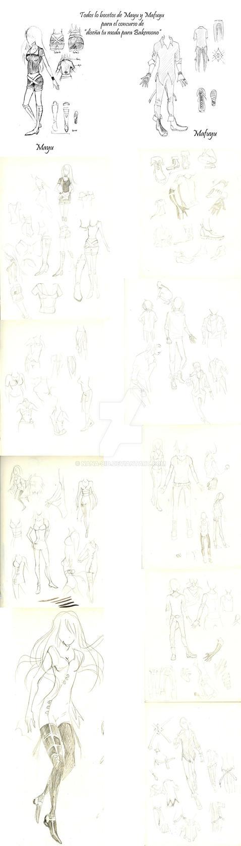 Bakemono_bocetos_concurso by Nana-Bid