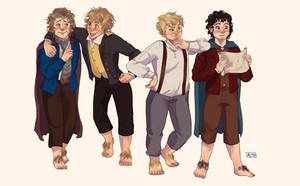 The Hobbits by The-kat-nights