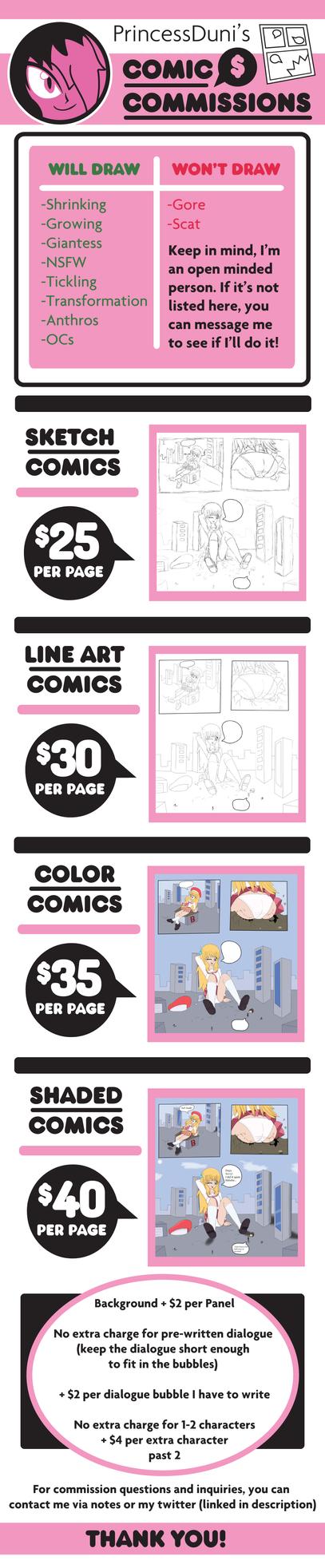 Duni-Comic-Commissions 2018 by PrincessDuni