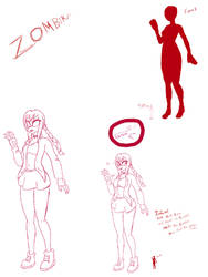 ZombieKin Concept Art by FairyDuni