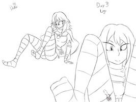 Shrinktober Day 3 Legs