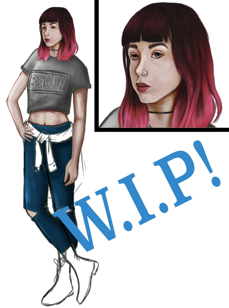 Zoe WIP by Beckerwith