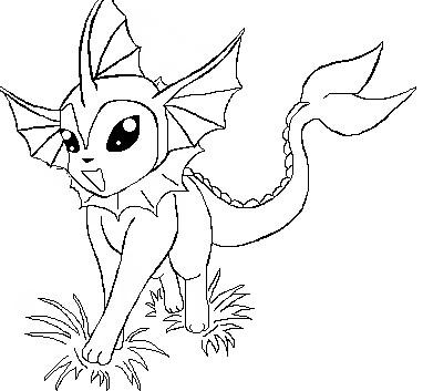 Pokemon Vaporeon Coloring Pages Images Pokemon Images Vaporeon Coloring Pages