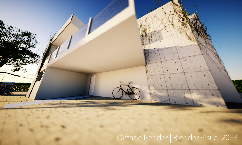 Octane Render Stone House Design 02 by str9led