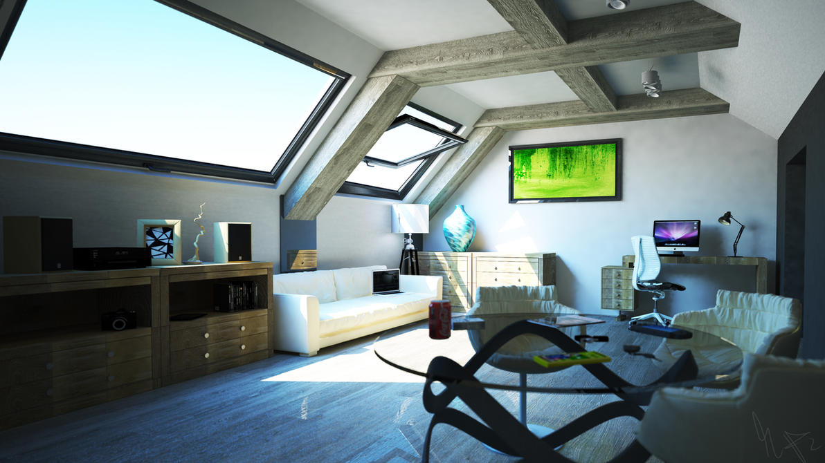 Final composition podasze vray 52 min 4k by str9led on for Living room cinema 4d