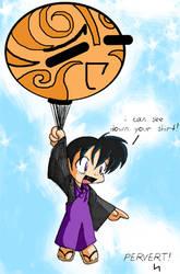 Ballooning Miroku by runeechan