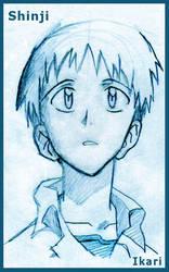 Shinji Ikari - Blue by runeechan