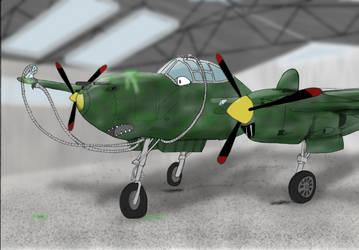 P-38 Lightning'd by Ahgjan