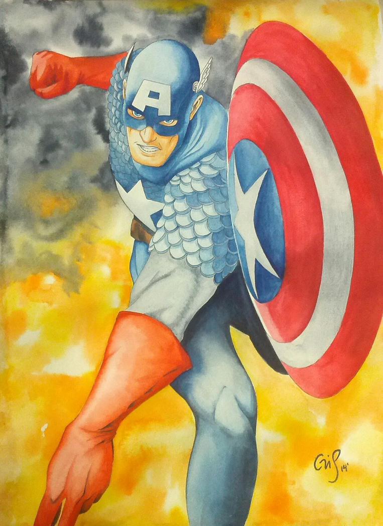 Capitan America by mangakris