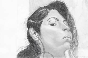 Self Portrait (lol such originality) by peas23