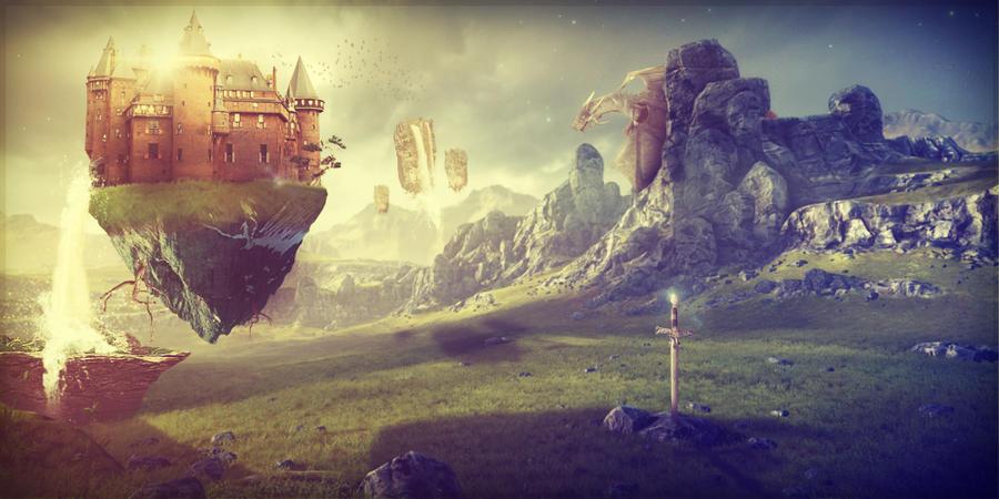 Floating Castle by Rik...
