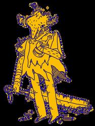 Drunk Horned Imp Warrior by cryptgarden