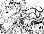 Rocksteady And Bebop TMNT Wave 4 (Ink) 12-25-15