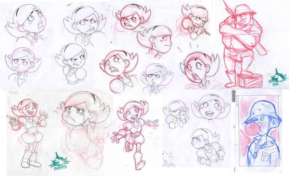 Bocetos de La Pintura de Lucy by KarlaDiazC