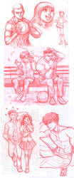 Slam Dunk Sketches fanart by KarlaDiazC