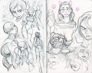 Palomino sketchbook 01 by KarlaDiazC