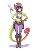 Chameleon cowgirl commission