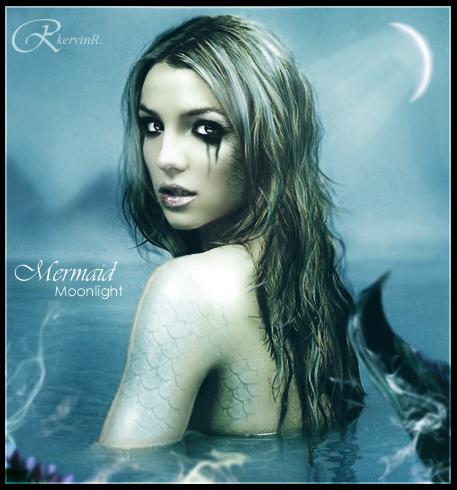 Monlight Mermaid by kervinrojas